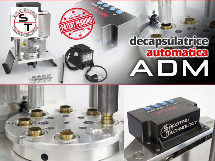 Shooting Technology: Automatische Entzündermaschine Automatic Decapping Machine ADM ® 9mm .45 ACP .40S&W