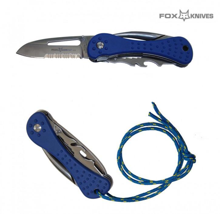 Fox Seglermesser Messer FX-235 Teilwellenschliff, Marlspieker Multifunktionsklinge