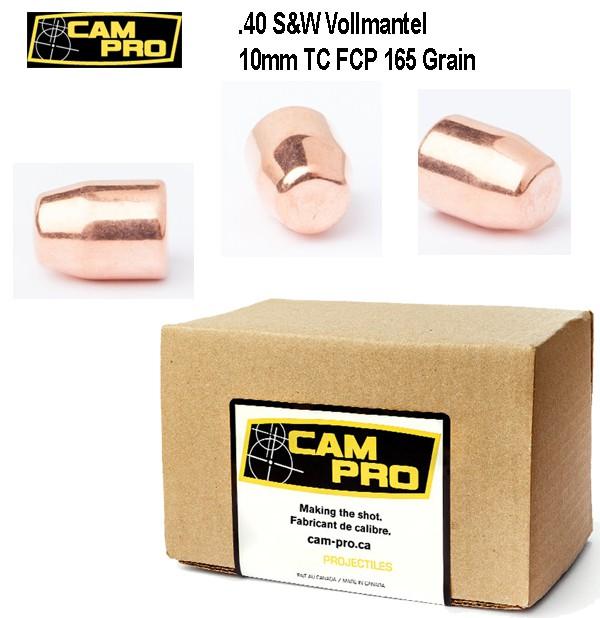 .40 Smith & Wesson 165 Grain 10,69 Gramm 500 Geschoße FCP TC .40 S&W 10mm Auto Campro Geschosse