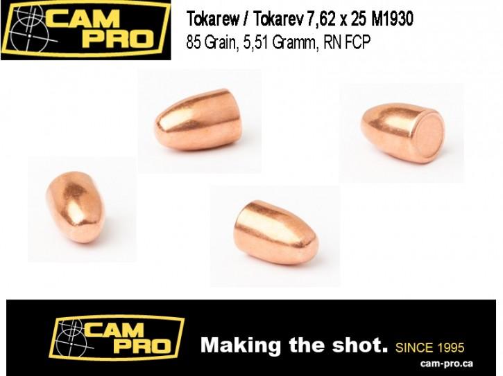7,62 × 25 mm Tokarew Tokarev M1930 85 Grain, 5,51 Gramm: 500 Geschoße RN FCP