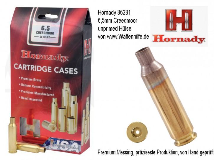 Hornady: 50 Hülsen Kaliber 6,5mm Creedmoor, unprimed