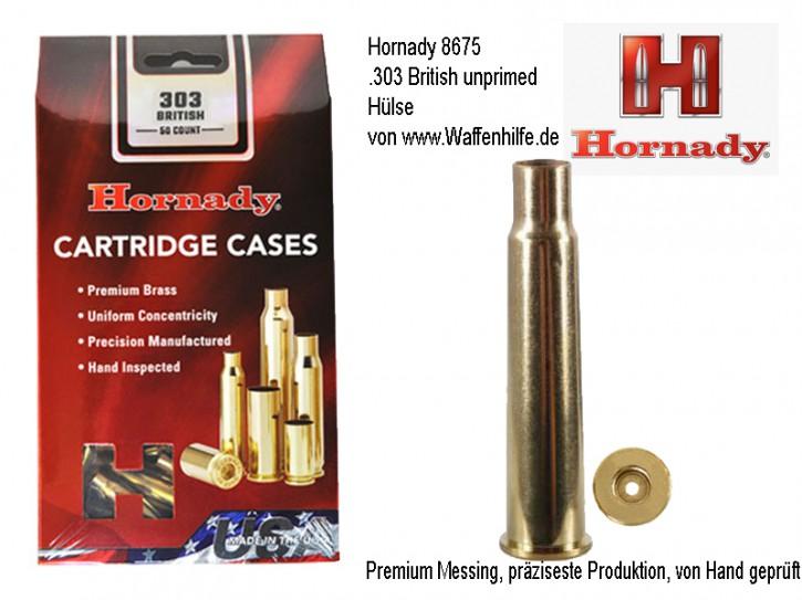 Hornady: 50 Hülsen für Kaliber .303 British, unprimed