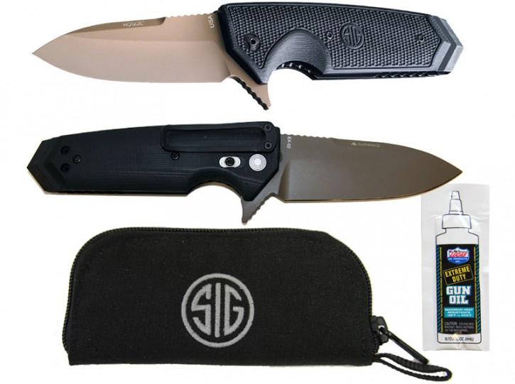 SigSauer: Messer Scorpion SIg Sauer von Hogue - Stahl 154CM Pistole Design mit Sig Emblem