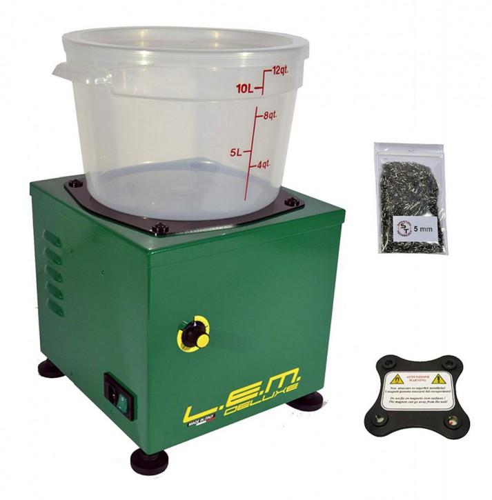LEM Deluxe Elektromagnetische Hülsenreiniger L.E.M. Lavabossoli Reinigung LEM + Magnet + Nadeln 1400 UpM 1,8 kg Drehzahlregler.