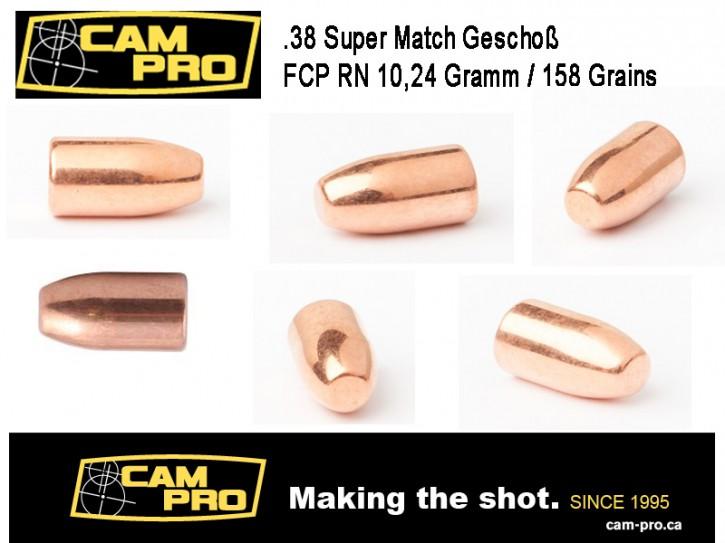 .38 Super: 500 Geschosse 38 Super .38 FCP RN 158 Grain 9,04 Gramm Cal 9.04 mm Länge 14,5 mm von CAMPRO