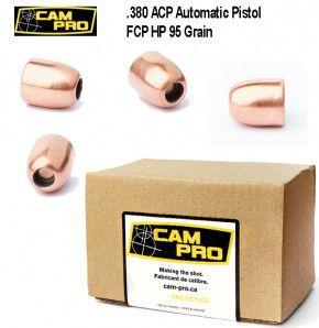 .380: 500 Stück Geschoß .380 95 Grain 6,16 Gramm FCP HP Hohlspitz Projektil CamPro 380 ACP .355 9,02