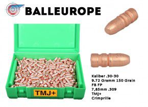.30-30 Winchester 500 x kupfermantel Geschosse 9.72 Gramm 150 Grains Balleurope RN FP L50