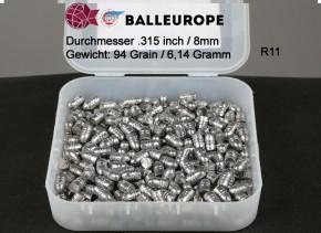 250 Geschoße für Kaliber 8mm .315 .320 Bulldog Revolver 6,14 Gramm 94 Grains Bleigeschoss lang R11
