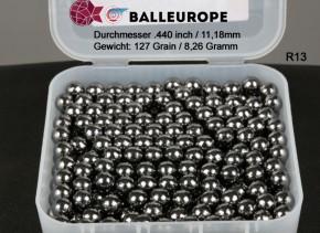 250 Blei Geschoße Rundkugeln Ø .440 11,18mm 127 Grains 8,26 Gramm Perkussion Revolver Balleurope R13