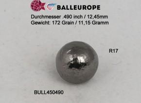 200 Rundkugeln .490: Ø .490 12,45mm 172 Grains 11,15 Gramm Perkussion Revolver Balleurope R17