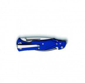 Seglermesser Messer Nauta B/S blau von Antonini satinierte Sheepfoot Klinge - Marlspieker Linerlock Schäkelöffner Flaschenöffner Bithalter Fangriemenöse Clip - SOS Bordmesser Segelmesser Werkzeug