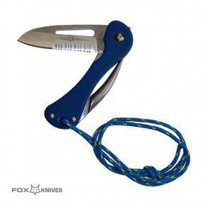 Fox Knives Seglermesser Messer FX-073 Klinge aus 420C, Teilwellenschliff, Marlspieker Bordmesser Segelmesser