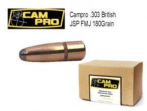 .303: 250 Stück Match Geschosse Campro: .303 BRITISH 180 Grains FMJ JSP 11,66G 7,9mm 311 inch Crimprille
