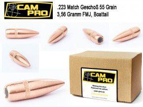 .223: Geschosse Kaliber 223 Remington 5,56×45 FMJ BT 55 Grain 3,56 Gramm 224 5.69 Vollmantel Matchgeschoß CamPro L55