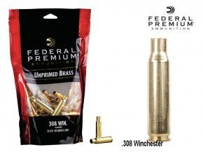 Federal Premium : 50 Stück .308 Winchester / 7,62 × 51 mm NATO Hülsen, unprimed