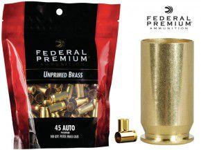 Federal Premium : 100 Stück .45 ACP Hülsen, unprimed