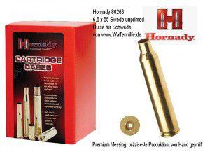 Hornady: 50 Hülsen Kaliber 6,5 x 55 Swede (Schwede) Mauser, unprimed