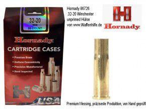 Hornady: 50 Hülsen Kaliber .32 - 20 Winchester / 32-20 / 32-20 WCF  , unprimed