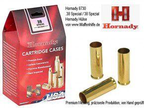 Hornady: 200 Hülsen für Kaliber .38 Special / 38 Spezial, unprimed