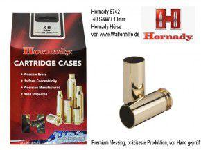 Hornady: 200 Hülsen für Kaliber .40 S&W, unprimed