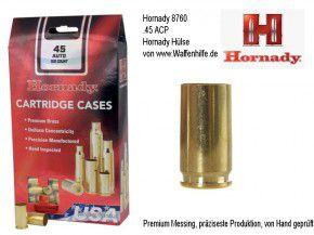 Hornady: 100 Hülsen für Kaliber .45 ACP, unprimed