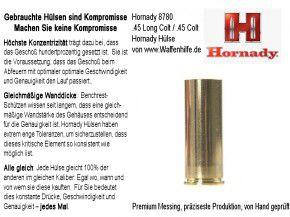 Hornady: 100 Hülsen für Kaliber .45 Long Colt / .45 Colt, unprimed
