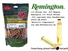 Remington 100 Stück Hülsen .223 unprimed ohne Zündhütchen Cases 22408 DM RC223R