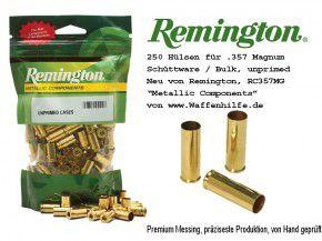 Remington 250 Stück Hülsen .357 Magnum unprimed ohne Zündhütchen Cases RC357MG