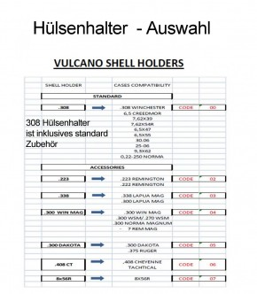 Shooting Technology: Vulcano Shell-Holder .300 Win Mag -  CODE 04